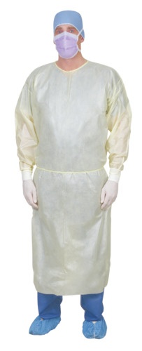 Single-Use Bilaminate Isolation Gown with Breathable Back