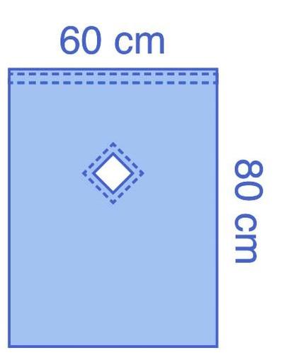 Essential Epidural Drape with Diamond Adhesive Fenestration