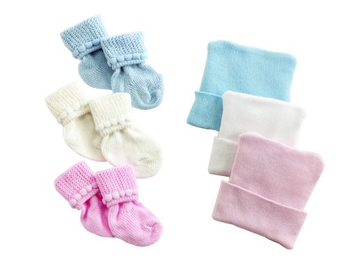 Infant Caps & Booties Set