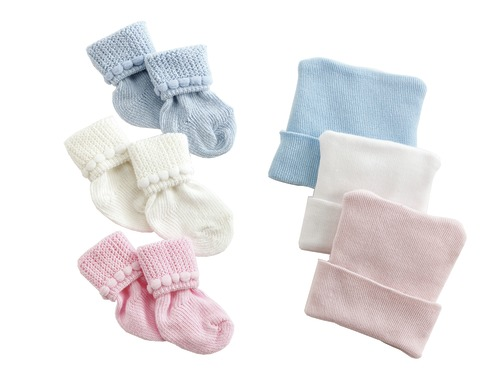 Infant Caps & Booties Set