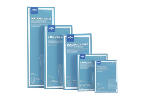 Bordered Gauze Adhesive Island Wound Dressing