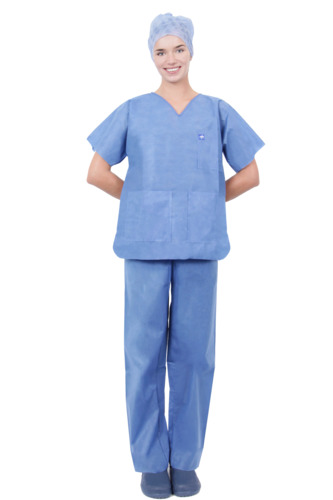 Single-Use Soft Range SMS Scrub Suit Set