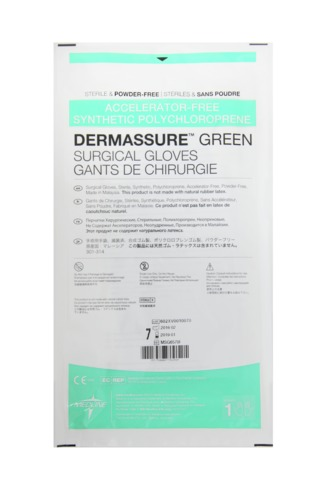 Dermassure® Green Accelerator Free Synthetic Surgical Gloves
