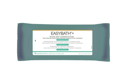 EasyBath Antibacterial Fragrance Free Bathing Cloths