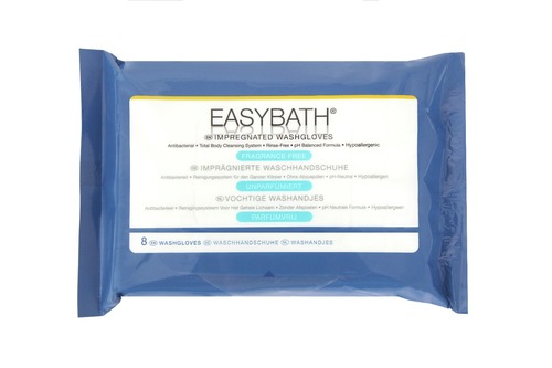 EasyBath Antibacterial Fragrance Free Wash Gloves