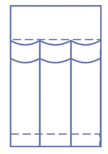 Invisishield Laparoscopy Instrument Pouch - 3 Compartment