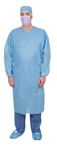 Lightweight Single-Use SMS Isolation Gown