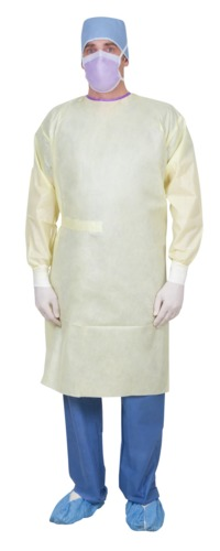 Medium weight Single Use SMS Isolation Gown with SPP Back