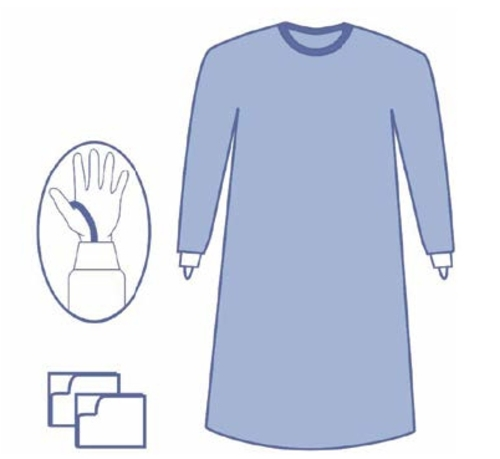 OPS Essential Standard Gown with Thumb Loop