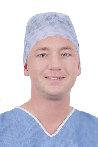 Single-Use Cluster Keybak Surgical Cap with Classic Forehead and Ties