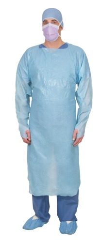 Single-Use Polyethylene Impervious Isolation Gown