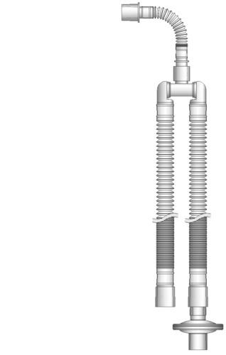Dual Limb Breathing Circuit with Swivel Wye