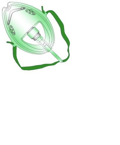 Medium Concentration Oxygen Mask without Tubing